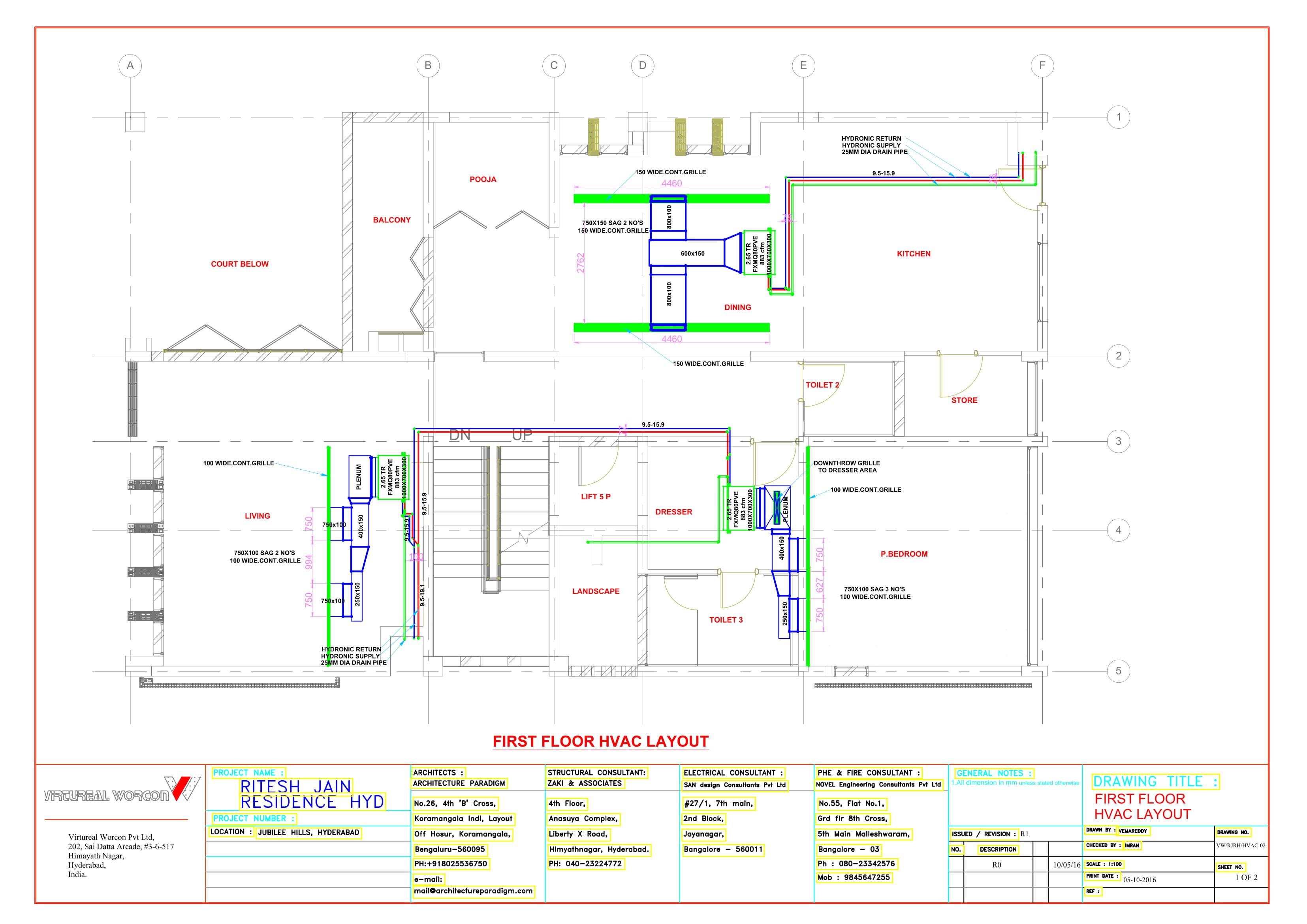Virtureal Worcon Hvac Drawing Sample Plan