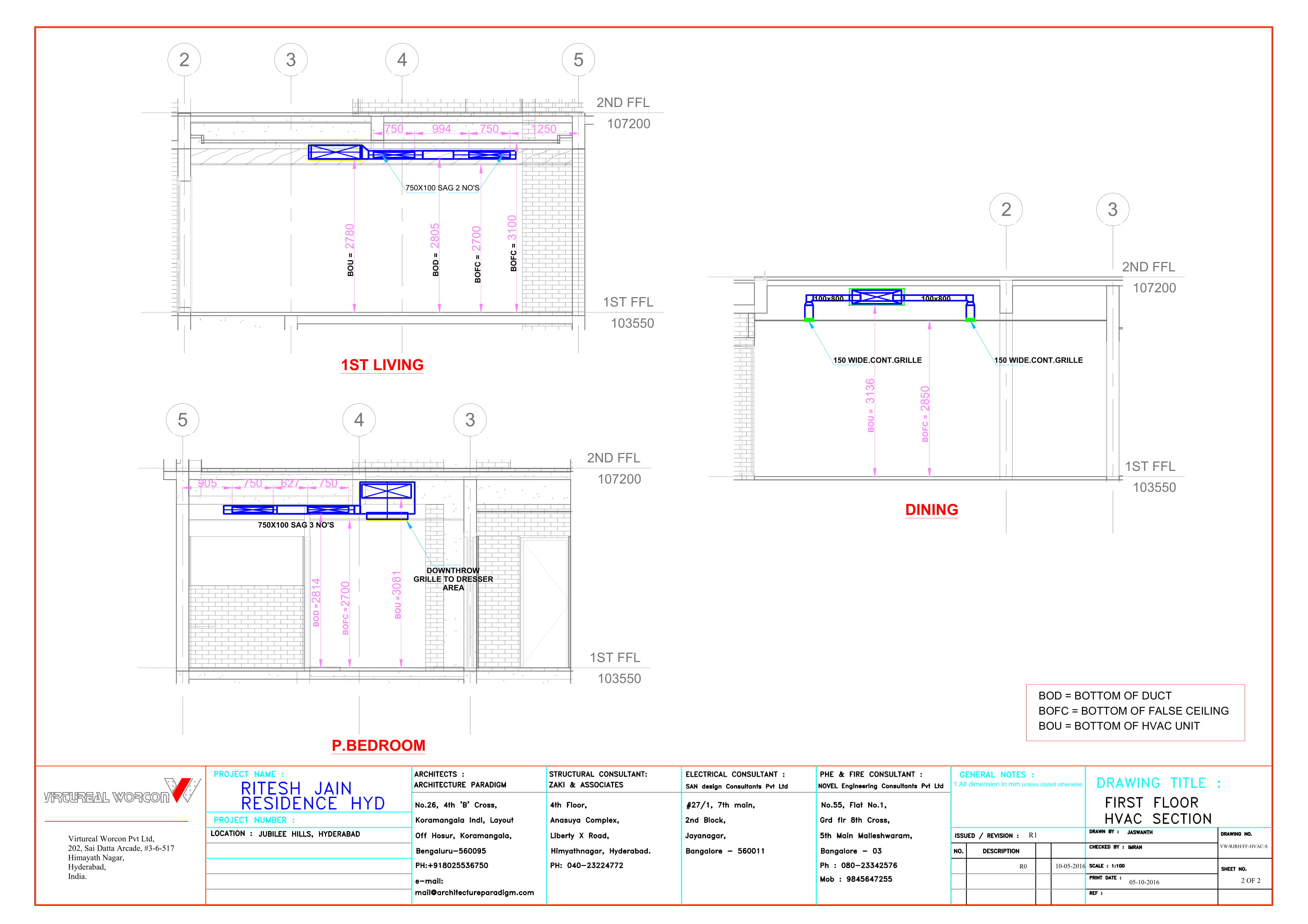 Virtureal Worcon Hvac Drawing Sample Sections